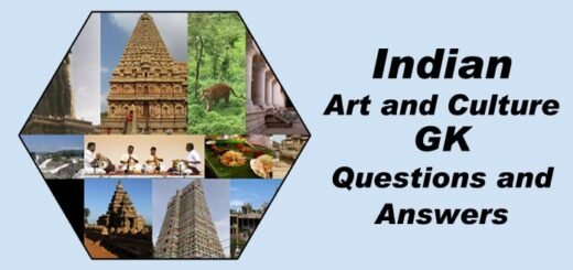 Indian Art and Culture GK general knowledge Questions and Answers